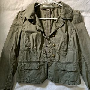 Ann Taylor LOFT military-inspired jacket